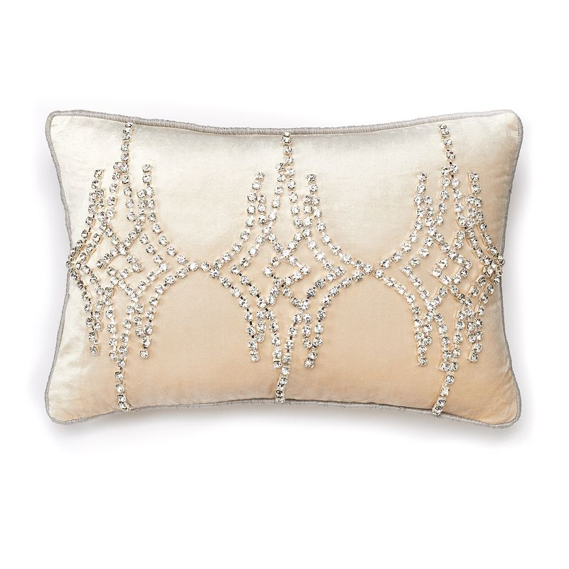 Jennifer Lopez bedding collection Chateau Rhinestone Trellis Throw Pillow