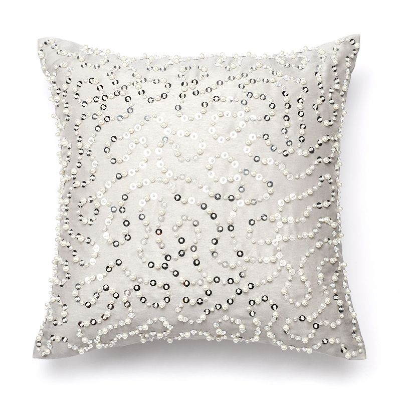 Jennifer Lopez bedding collection Chateau Pearl Party Throw Pillow