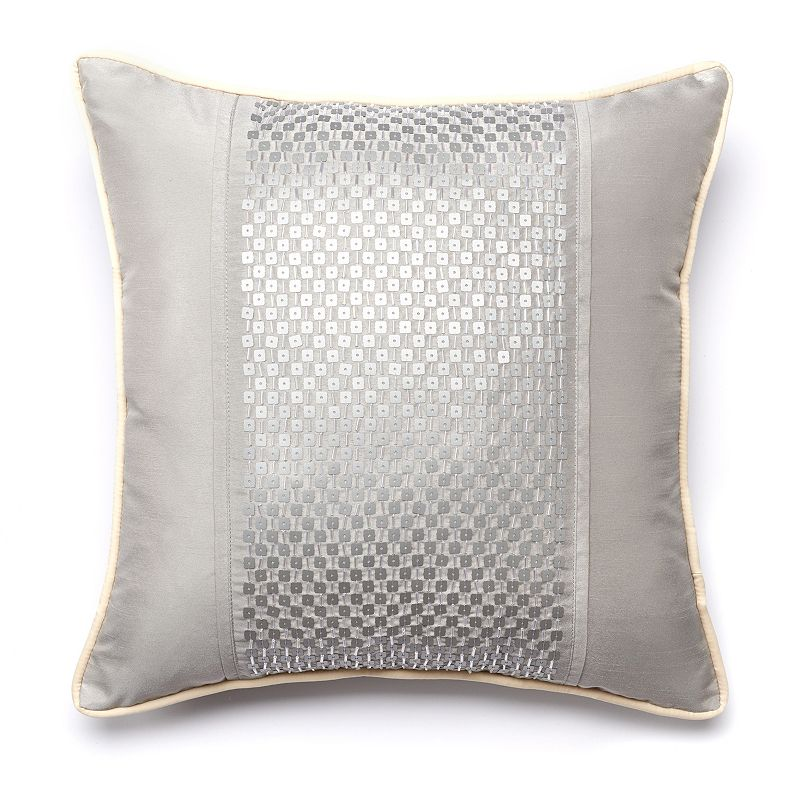 Jennifer Lopez bedding collection Chateau Railroad Sequin Throw Pillow