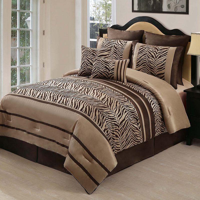 VCNY Laken 8-pc. Zebra Comforter Set