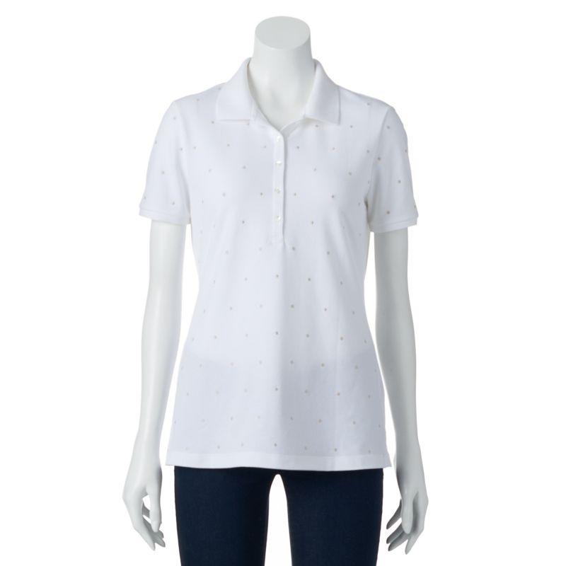 Croft & Barrow® Embroidered Polo - Women's