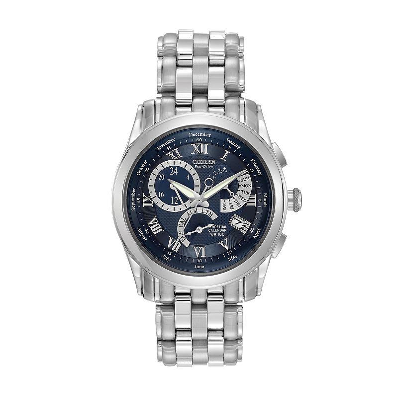 Citizen Eco-Drive Men's Stainless Steel Perpetual Calendar Watch - BL8000-54L