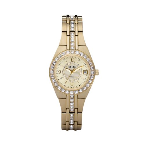 Relic Gold Tone Crystal Watch - ZR11778 - Women