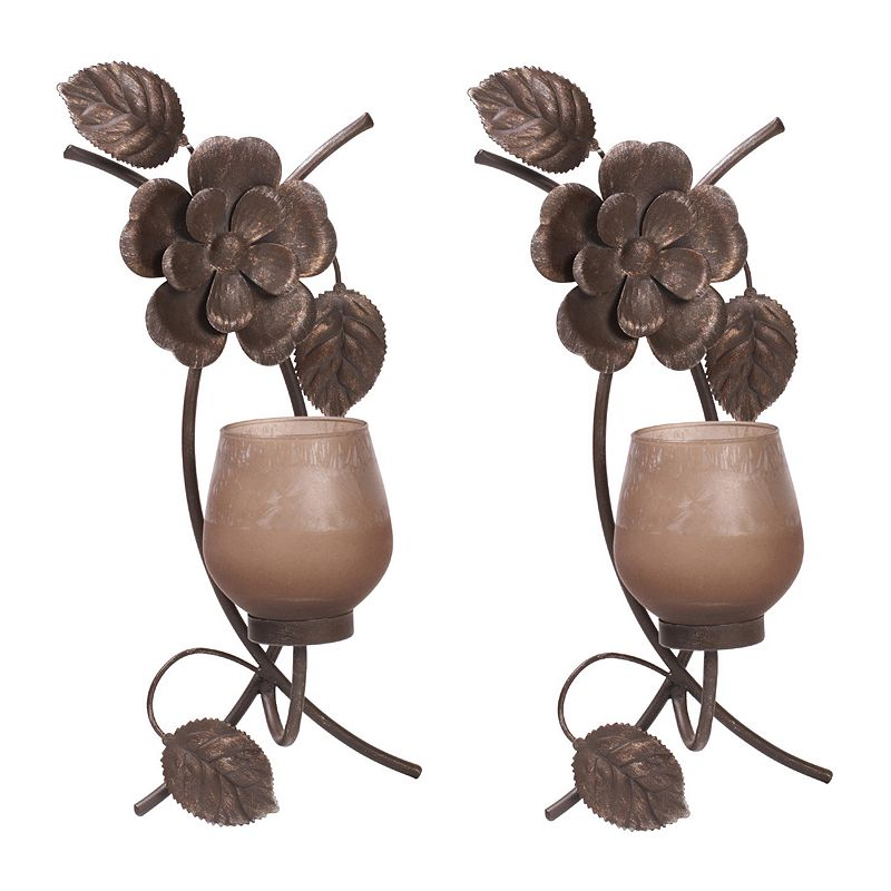 Mikasa 2-piece Rustic Flowers Wall Sconce Set