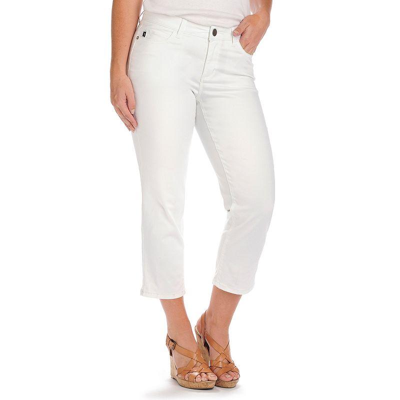 Petite Lee Lola Modern Series Curvy Fit Capri Jeans