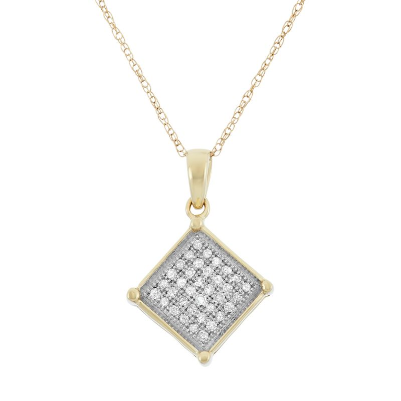 gold square necklace kohl s