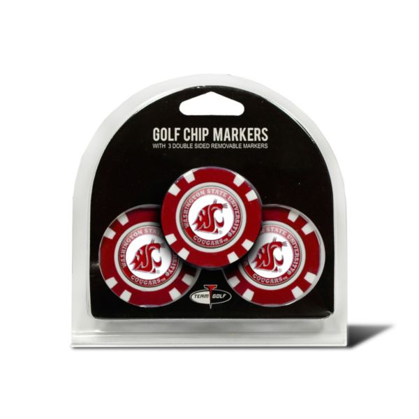Team Golf Washington State Cougars 3-pack Poker Chip Ball Markers