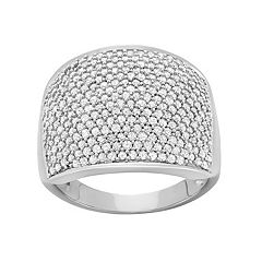 1 1/2 Carat T.W. Diamond 10k White Gold Ring by