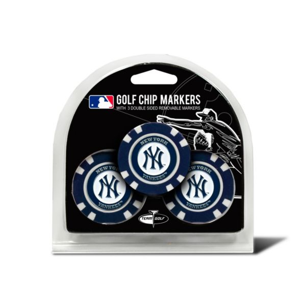 Team Golf New York Yankees 3-pack Poker Chip Ball Markers