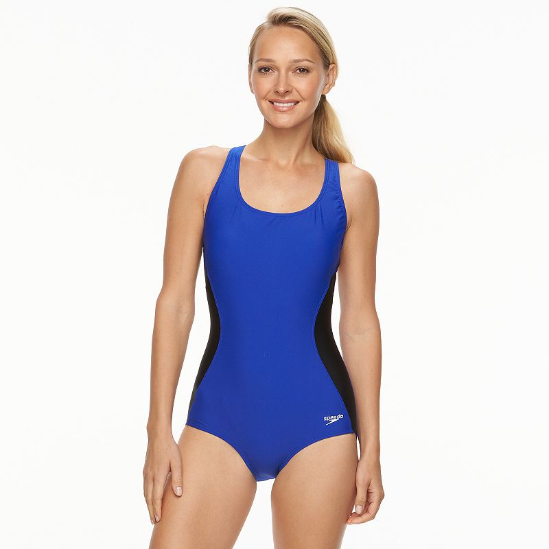 Speedo Body Sculptor Colorblock One-Piece Swimsuit - Women's