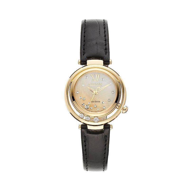 Citizen Eco-Drive Women's Sunrise Diamond Leather Watch - EM0322-02Y
