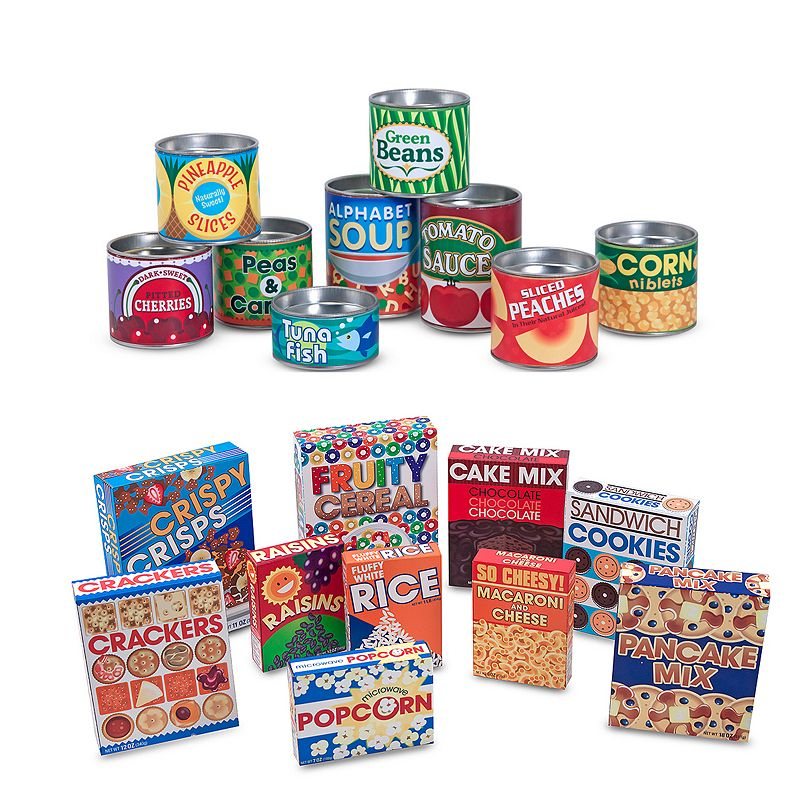 Melissa and Doug Grocery Boxes and Cans Play-Time Set