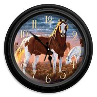 Reflective Art ''The Patriarch'' Horse Wall Clock