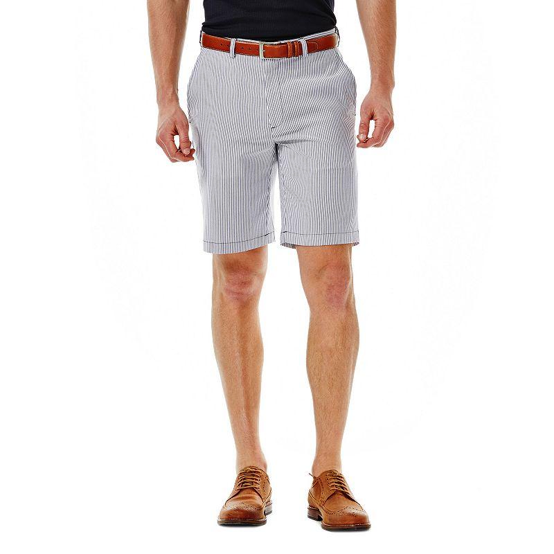 Men's Haggar Striped Seersucker Performance Flat-Front Shorts