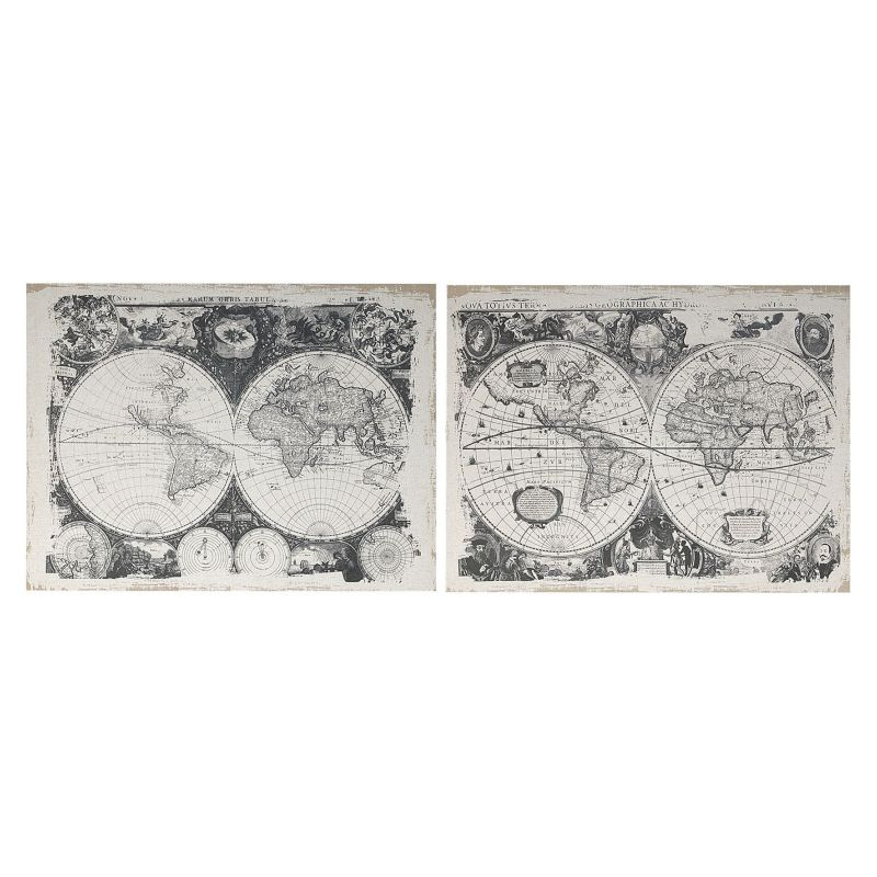 2 piece World Map Wall Decor Set