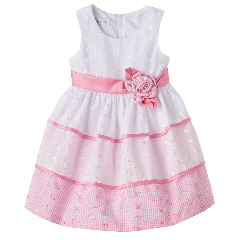 Bonnie Jean Tiered Eyelet Dress - Toddler Girl