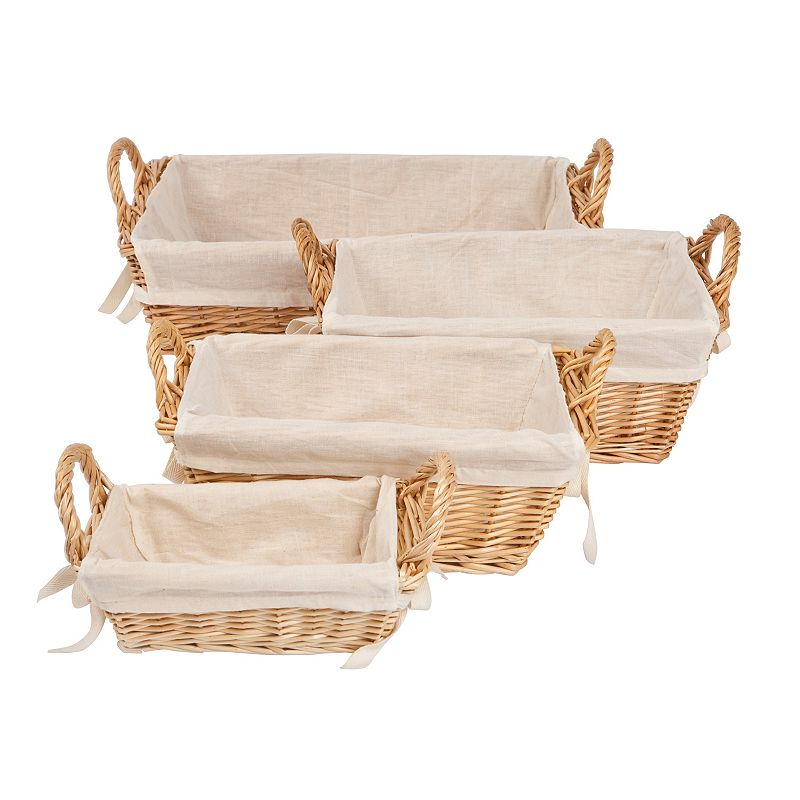 Burt's Bees Baby Rectangular Organic Storage Baskets and Liners