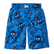 Jumping Beans® Printed Cargo Swim Trunks - Boys 4-7x