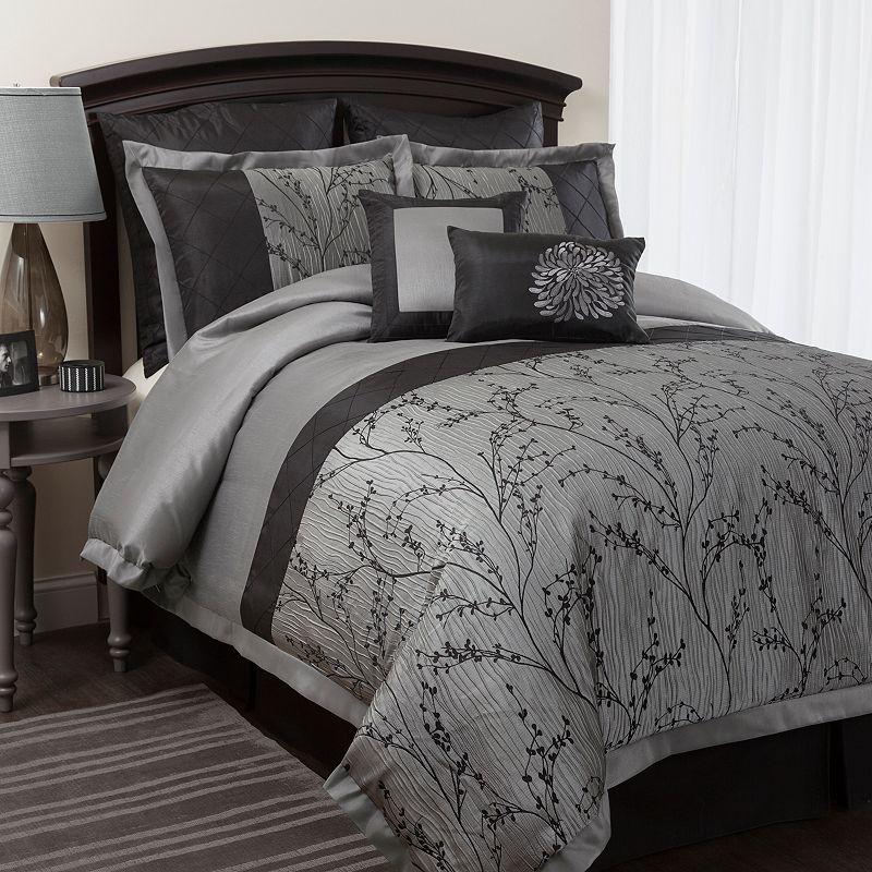 lush decor flower texture 8 pc comforter set