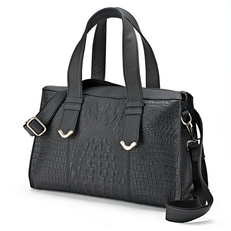AmeriLeather Gator-Gal Leather Convertible Shoulder Bag