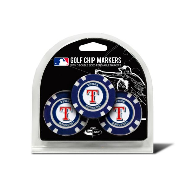 Team Golf Texas Rangers 3-pack Poker Chip Ball Markers