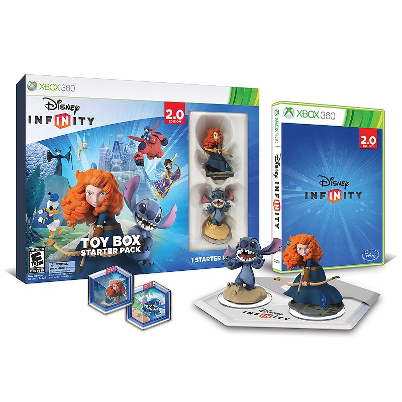 Disney Infinity: Toy Box 2.0 Edition Starter Pack for Xbox 360, Multicolor