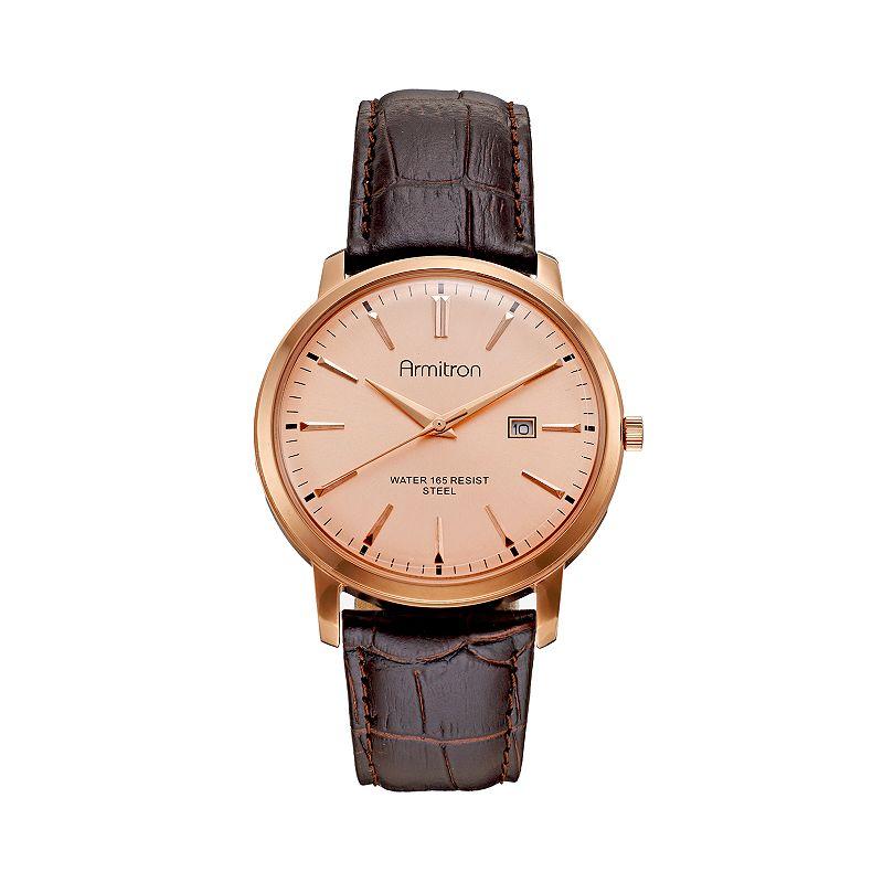 Armitron Men's Leather Watch - 20/5012RGRGDB