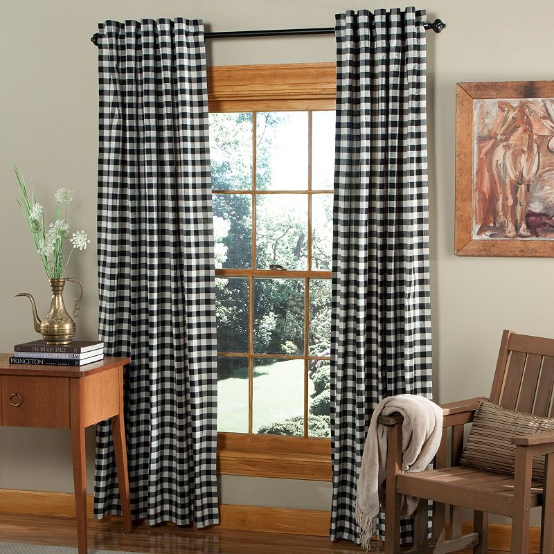 m.style Classic Check Curtain Pair - 45'' x 84''