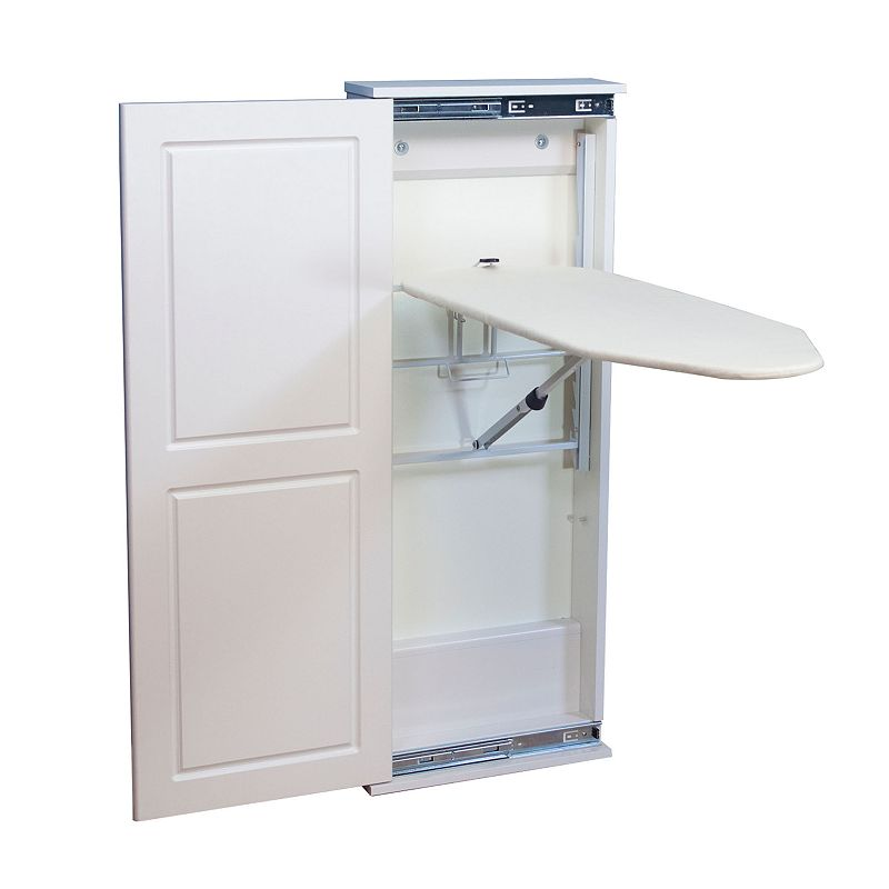 Household Essentials Design Iron 'n Fold Adjustable Ironing Board and Cabinet