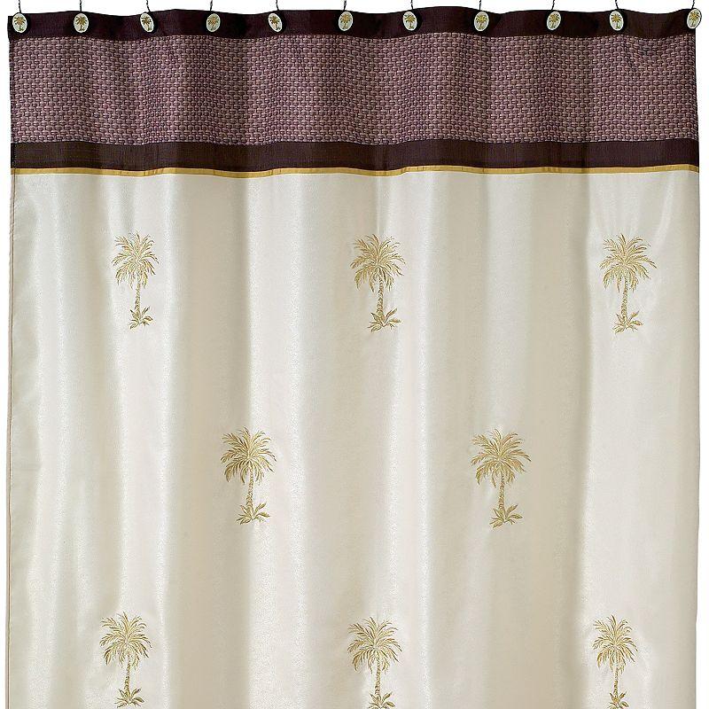 Avanti Oasis Palm Fabric Shower Curtain