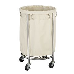Household Essentials Rolling Round Laundry Hamper by