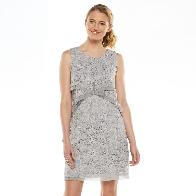 1 by 8 Lace Popover Shift Dress - Women's