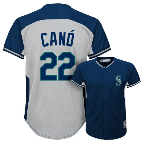 Boys 8-20 Majestic Seattle Mariners Robinson Cano Fashion Batting Practice MLB Jersey