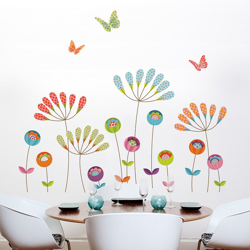 Pompoms Floral Wall Decals