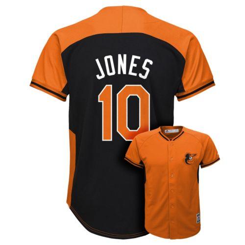 Boys 8-20 Majestic Baltimore Orioles Adam Jones Fashion Batting Practice MLB Jersey