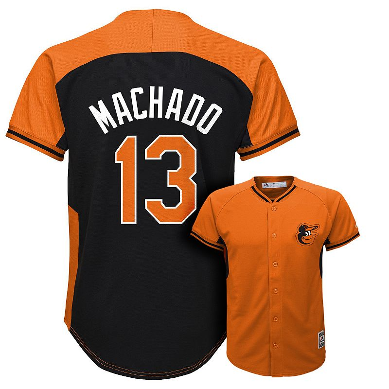 Boys 8-20 Majestic Baltimore Orioles Manny Machado Fashion Batting Practice MLB Jersey