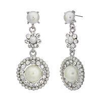 Crystal Allure Circle Drop Earrings