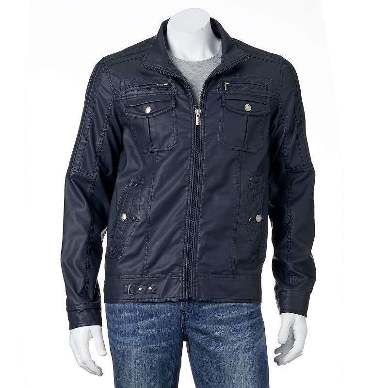 Men's XRAY Slim Faux-Leather Motorcycle Jacket