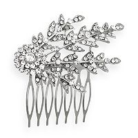 Crystal Allure Leaf Hair Comb