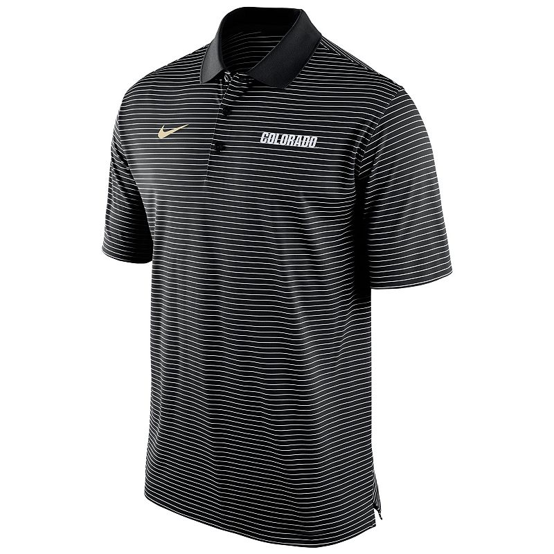 Men's Nike Colorado Buffaloes Striped Stadium Dri-FIT Performance Polo