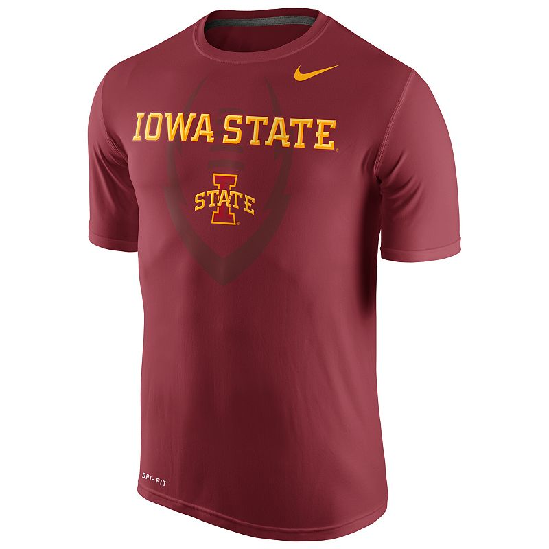 Men's Nike Iowa State Cyclones Legend Football Icon Dri-FIT Performance Tee