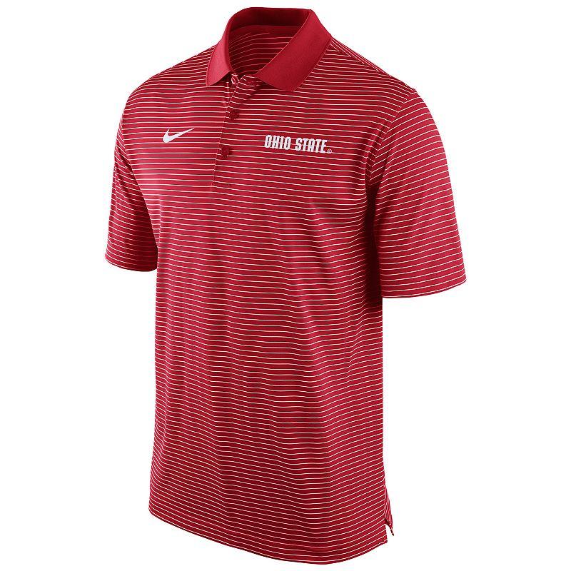 Men's Nike Ohio State Buckeyes Striped Stadium Dri-FIT Performance Polo