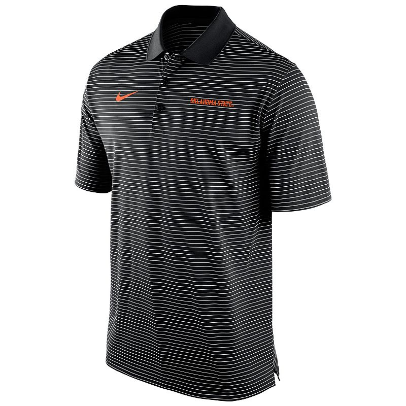 Men's Nike Oklahoma State Cowboys Striped Stadium Dri-FIT Performance Polo