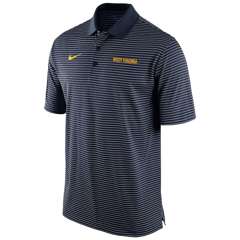 Men's Nike West Virginia Mountaineers Striped Stadium Dri-FIT Performance Polo