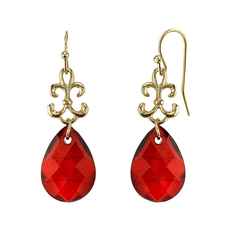 1928 Bead Teardrop Earrings