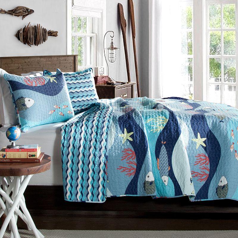 Lush Decor Sealife Reversible Quilt Set