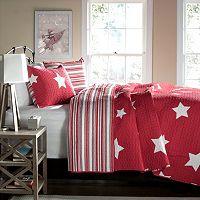 Lush Decor Red Star Reversible Quilt Set