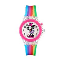 Disney's Minnie Mouse Girls' Rainbow Light-Up Watch