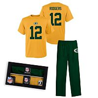 Green Bay Packers Aaron Rodgers Sleepwear Set - Boys 8-20