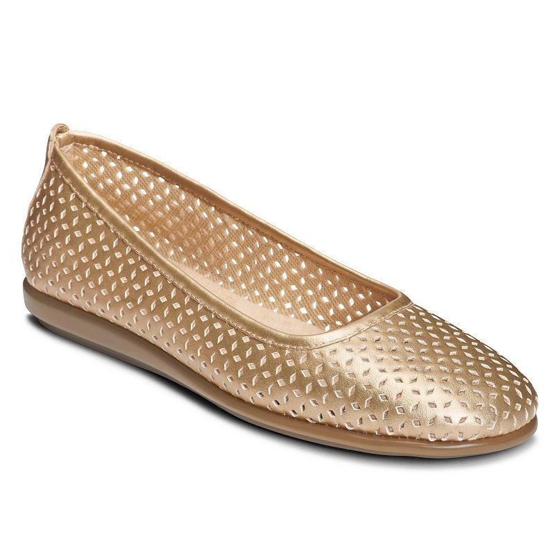Kohls Flat Gold Womens Shoe